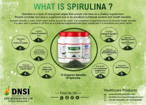 स्पिरुलिना के फायदे - Spirulina ke fayade - 1000 Kg सब्जियाँ - फल या 1 Kg Spirulina